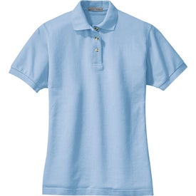 Branded Port Authority Ladies Pique Knit Sport Shirt