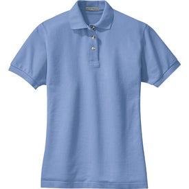 Printed Port Authority Ladies Pique Knit Sport Shirt