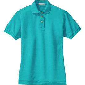Promotional port authority ladies pique knit sport shirts for Quality polo shirts with company logo