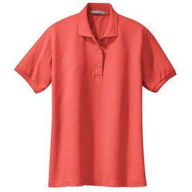 Promotional port authority ladies silk touch sport shirts for Custom embroidered polo shirts no minimum order