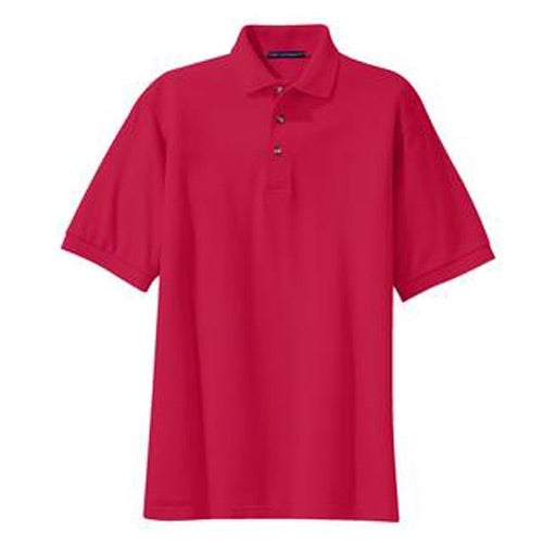 Port authority pique knit sport shirt embroidered polo for Quality polo shirts with company logo