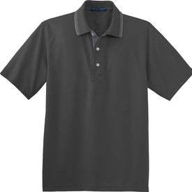 Logo Port Authority Rapid Dry Sport Shirt with Contrast Trim