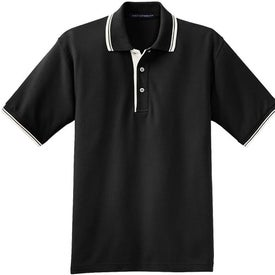 Company Port Authority Silk Touch Sport Shirt with Stripe Trim