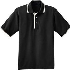Company Port Authority Silk Touch Sport Shirt with Stripe Trim
