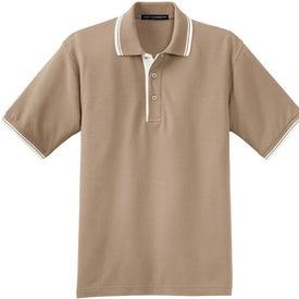 Custom Port Authority Silk Touch Sport Shirt with Stripe Trim