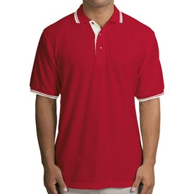 Port Authority Silk Touch Sport Shirt with Stripe Trim for your School