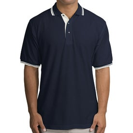 Port Authority Silk Touch Sport Shirt with Stripe Trim for Customization