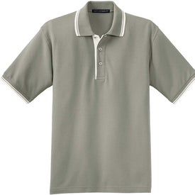 Port Authority Silk Touch Sport Shirt with Stripe Trim
