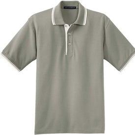 Port Authority Silk Touch Sport Shirt with Stripe Trim