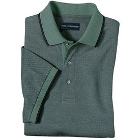 Imprinted Port Authority Twill Sport Shirt with Stripe Trim