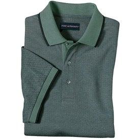 Imprinted Port Authority Twill Sport Shirt with Stripe Trim