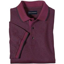 Printed Port Authority Twill Sport Shirt with Stripe Trim
