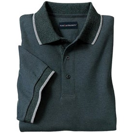 Port Authority Twill Sport Shirt with Stripe Trim