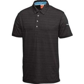Monogrammed Puma Barcode Stripe Short Sleeve Polo Shirt by TRIMARK