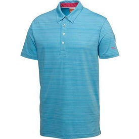 Promotional Puma Barcode Stripe Short Sleeve Polo Shirt by TRIMARK