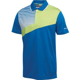Puma Colorblock Stripe Tech Short Sleeve Polo Shirt by TRIMARK for Advertising