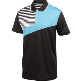 Puma Colorblock Stripe Tech Short Sleeve Polo Shirt by TRIMARK