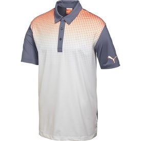 Puma Glitch Knit Stretch Polo Shirt by TRIMARK (Men's)