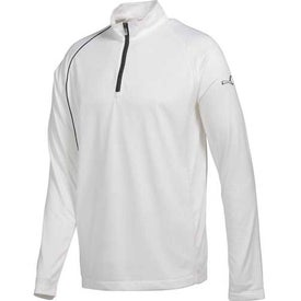 Imprinted Puma Golf 1/4 Zip Long Sleeve Polo Cresting Shirt by TRIMARK
