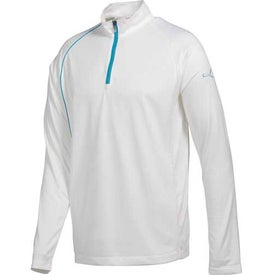 Logo Puma Golf 1/4 Zip Long Sleeve Polo Cresting Shirt by TRIMARK