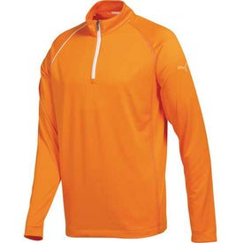 Puma Golf 1/4 Zip Long Sleeve Polo Cresting Shirt by TRIMARK