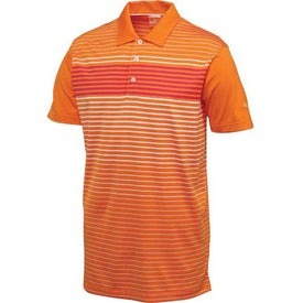 Custom Puma Engineered Stripe Tech Short Sleeve Polo Shirt by TRIMARK