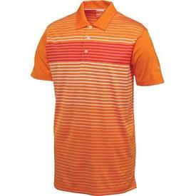 Custom Puma Engineered Stripe Tech Short Sleeve Polo Shirt by TRIMARK