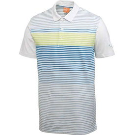 Imprinted Puma Engineered Stripe Tech Short Sleeve Polo Shirt by TRIMARK