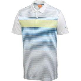 Imprinted Puma Engineered Stripe Tech Short Sleeve Polo Shirt by TRIMARK