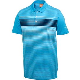 Puma Engineered Stripe Tech Short Sleeve Polo Shirt by TRIMARK for Your Company
