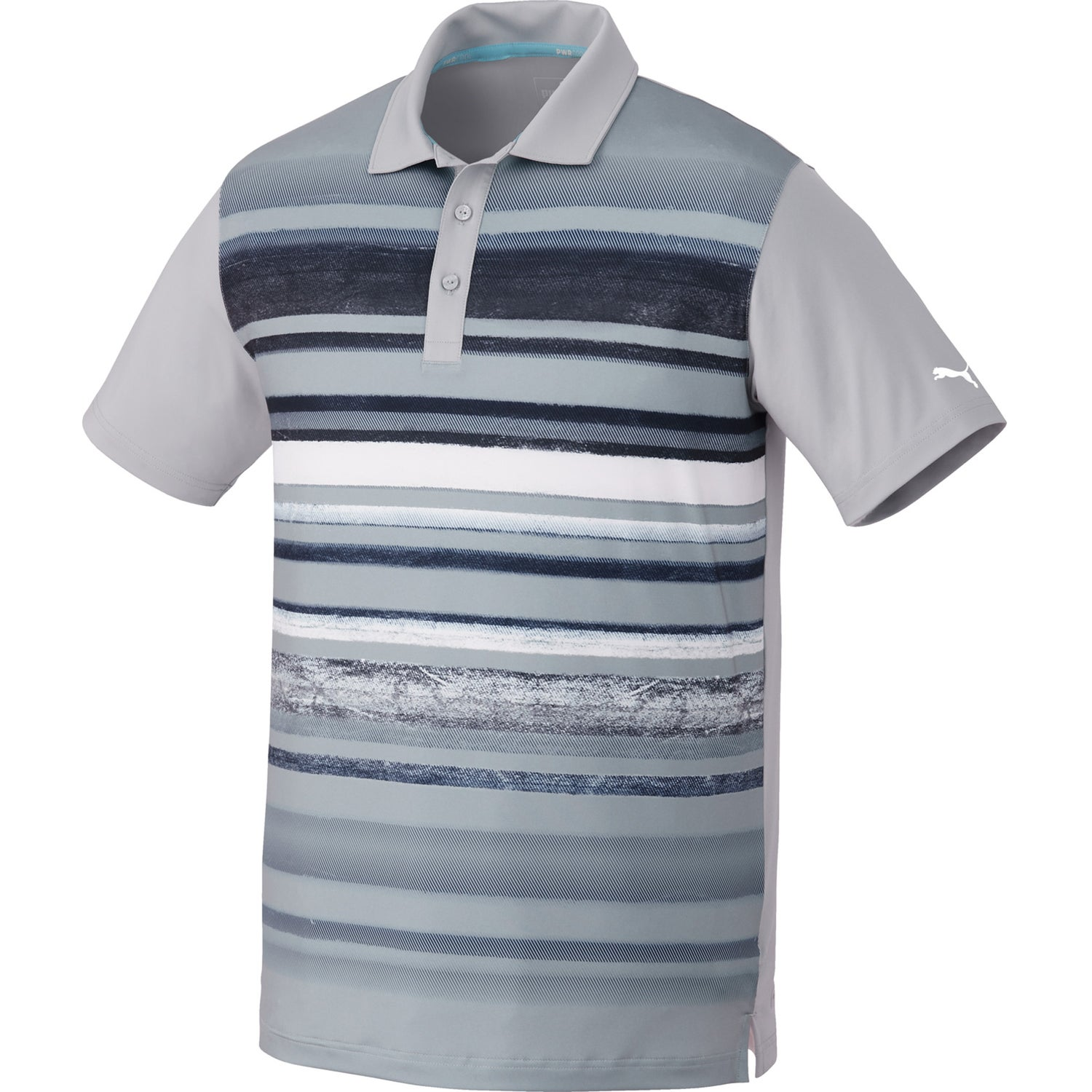 Promotional Mens Puma Washed Stripe Pc Polo Shirt By Trimarks With