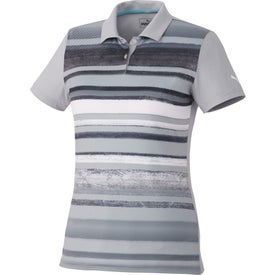 Puma Washed Stripe PC Polo Shirt by TRIMARK (Women's)