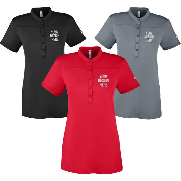 Black Under Armour Corp Performance Polo