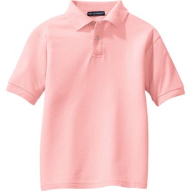 Imprinted Port Authority Youth Silk Touch Sport Shirt