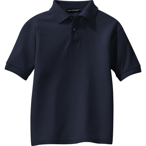 Port authority youth silk touch sport shirt embroidered for Quality polo shirts with company logo