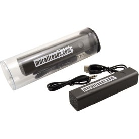 Tubes with Bluetooth Speaker Power Bank (2200 mAh)