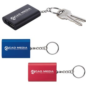 Emergency Keyring Power Bank (1000 mAh, UL Listed)