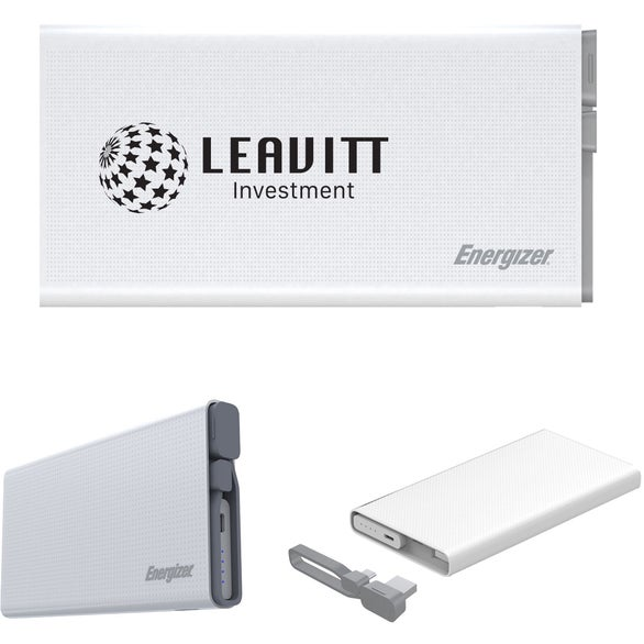 White Energizer Power Bank
