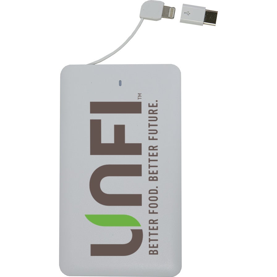 McKinley Slim Power Bank with Built-In Cable (4000 mAh)