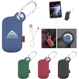 Pebble Carabiner Power Bank (5000 mAh, UL Listed)