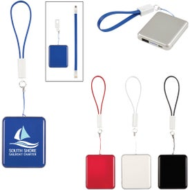 UL Listed Power Bank With Cable Strap
