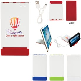 Power Bank With Flip Up Phone Stand (4000 mAh, UL Listed)