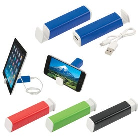 Power Bank with Phone Stand (2200 mAh, UL Listed)