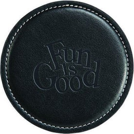 Achiever Leather Coaster