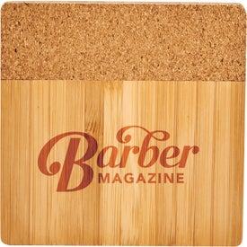 Bamboo and Cork Coaster Four Piece Set