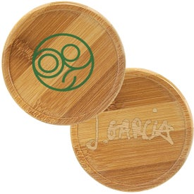 "Bamboo Round Beverage Coaster (3.25"" Dia.)"