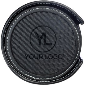 "Simulated Carbon Fiber Coaster Set (0.2188"" x 3.875"" Dia.)"