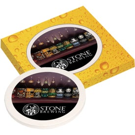 Ceramic Coaster with Full Color Box