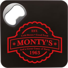 "Coaster Bottle Opener (3.25"" x 3.25"" x 0.125"")"