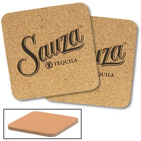 "Cork and Fireboard Square Beverage Coaster (3.75"" x 3.75"" x 0.25"")"
